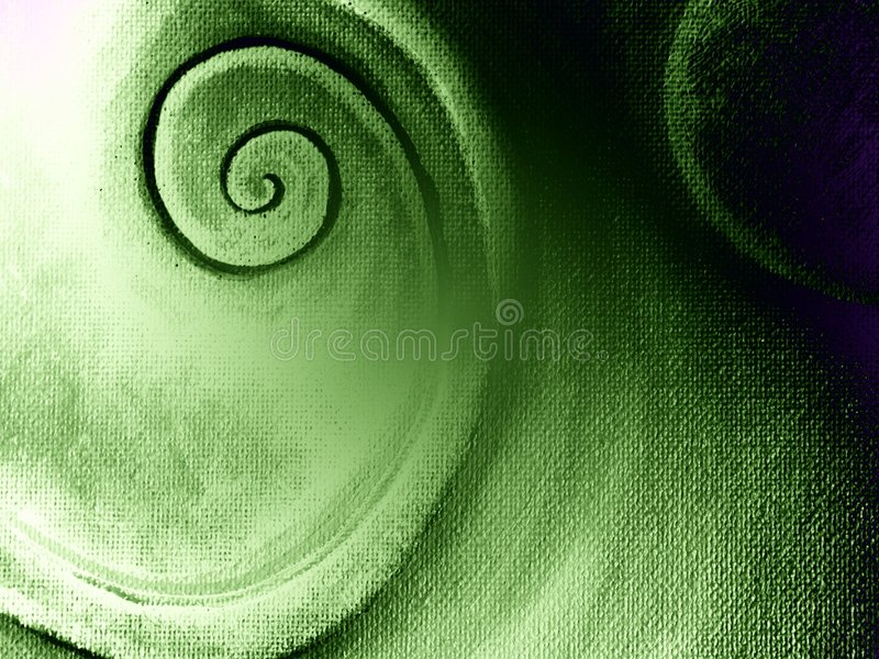 Spiral Pattern Canvas Texture. A green spiral texture design originally on canvas and digitally altered for dramatic effect royalty free stock images