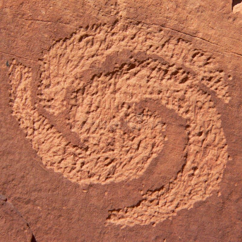 Free Spiral Petroglyph Royalty Free Stock Photography - 320767
