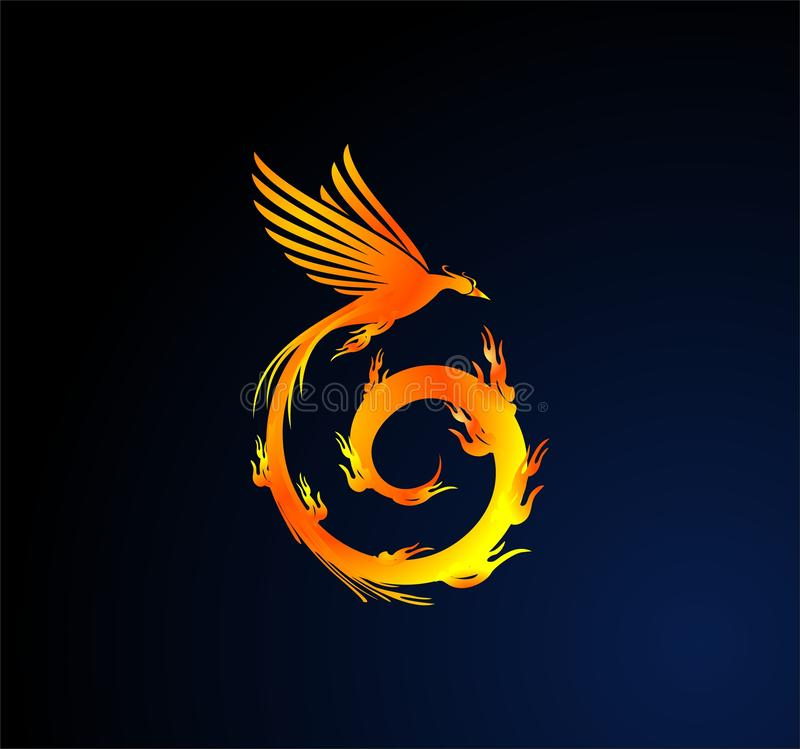 Spiral phoenix royalty free illustration