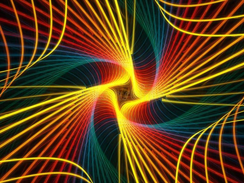 Spiral rainbow royalty free illustration