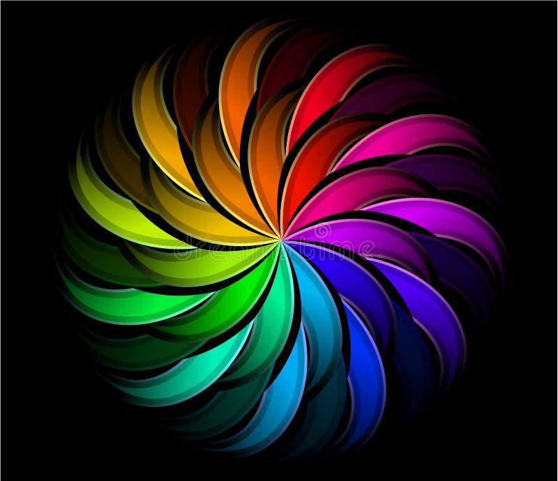 Download Spiral rainbow swirl stock illustration. Image of motion - 29115179