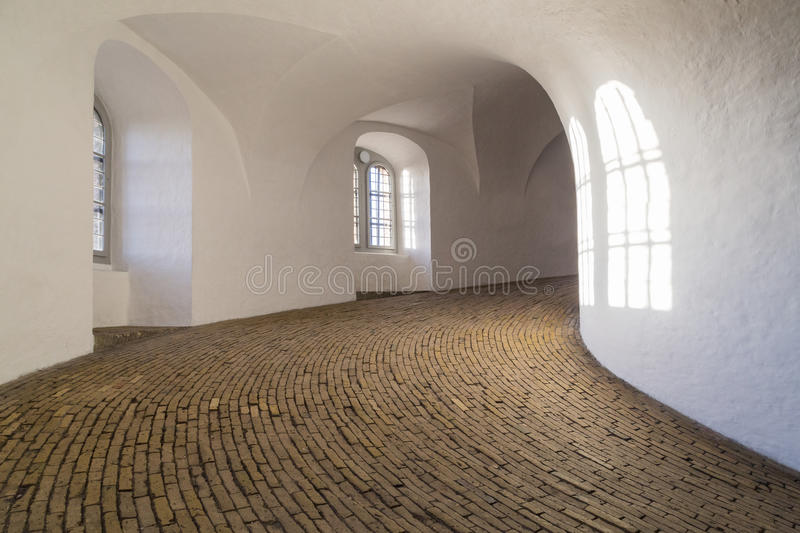 Spiral ramp of the round tower in Copenhagen royalty free stock image