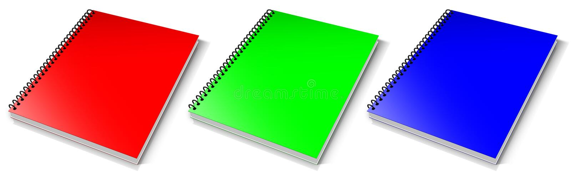 Download Spiral RGB binder. stock illustration. Image of page - 23693181