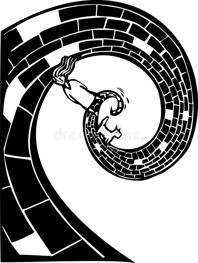Download Spiral Road stock vector. Image of search, dream, brick - 26486763