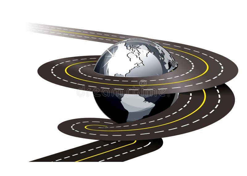 Spiral road concept illustration vector illustration