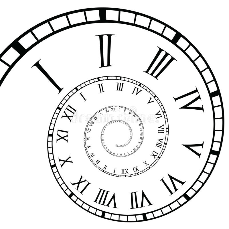 Free Spiral Roman Numeral Clock Time-Line Royalty Free Stock Photography - 27518007