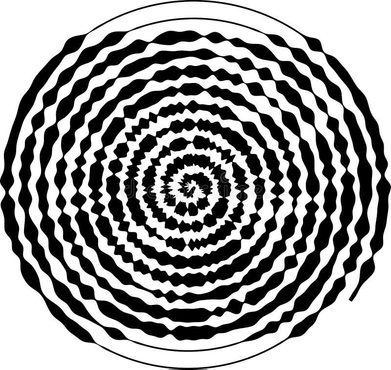 Spiral rund form Beståndsdelen av designen som skapar abstrakta orienteringar, räkningar, tryck på papper, tyg, sjal också vektor vektor illustrationer