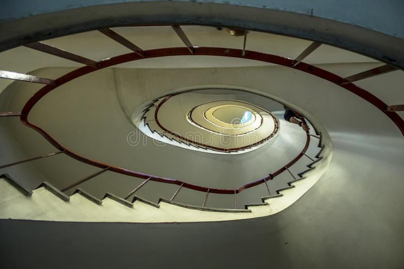 Spiral sataircase in building. In Dowtown Sao Paulo royalty free stock image
