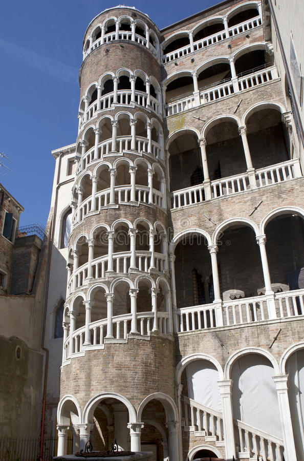 Free Spiral Scala Bovolo Stairway In Venice Stock Image - 24531261