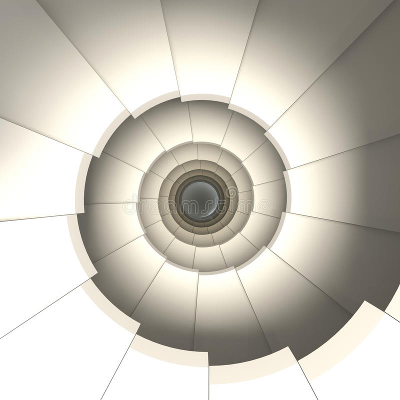 Spiral spiraltrappuppgång Begreppet av klättringen vektor illustrationer