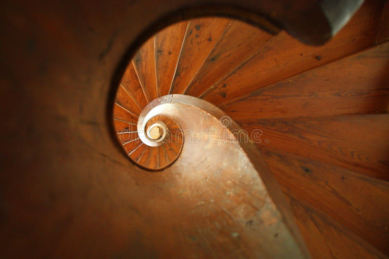 Spiral stair royalty free stock image
