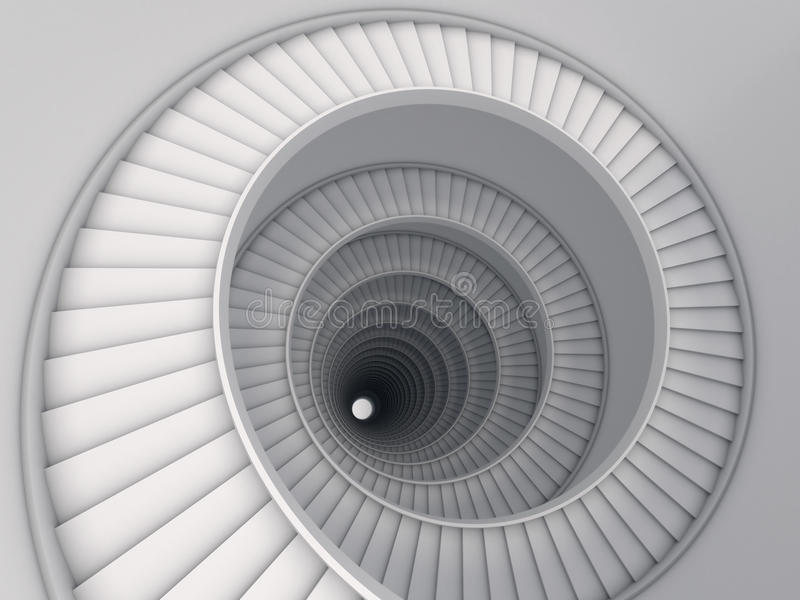 Spiral stair stock illustration