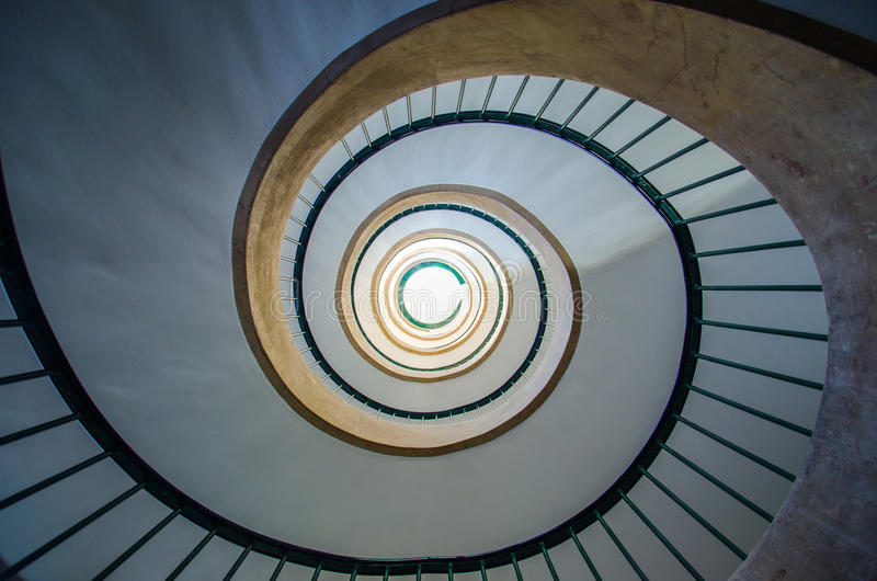 Spiral stair. In a hotel royalty free stock image