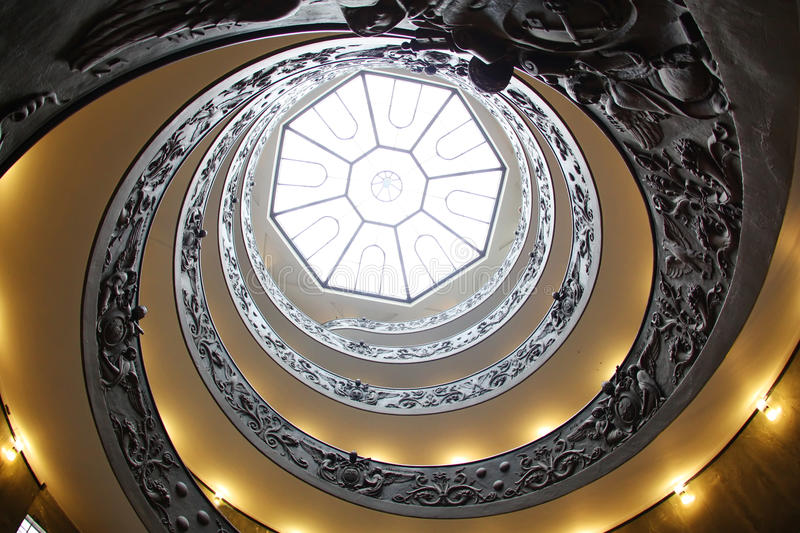 Vatican spiral staircase stock photography