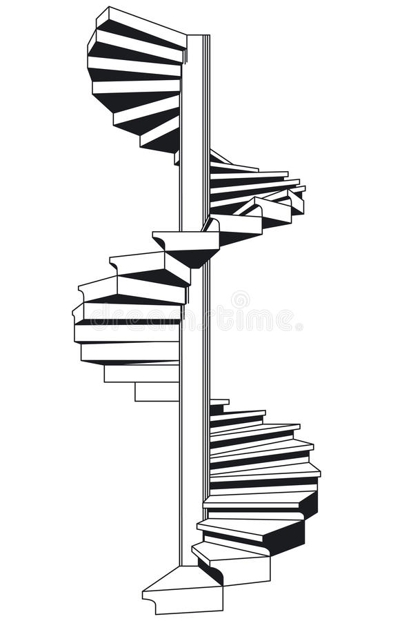 Download Spiral staircase stock vector. Image of backdrop, rising - 22979266