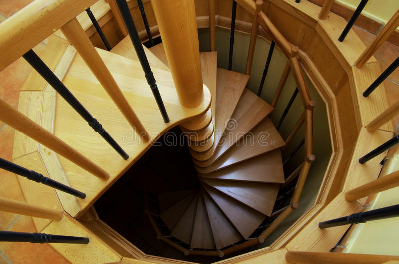Download Spiral staircase stock image. Image of step, light, tall - 26576609