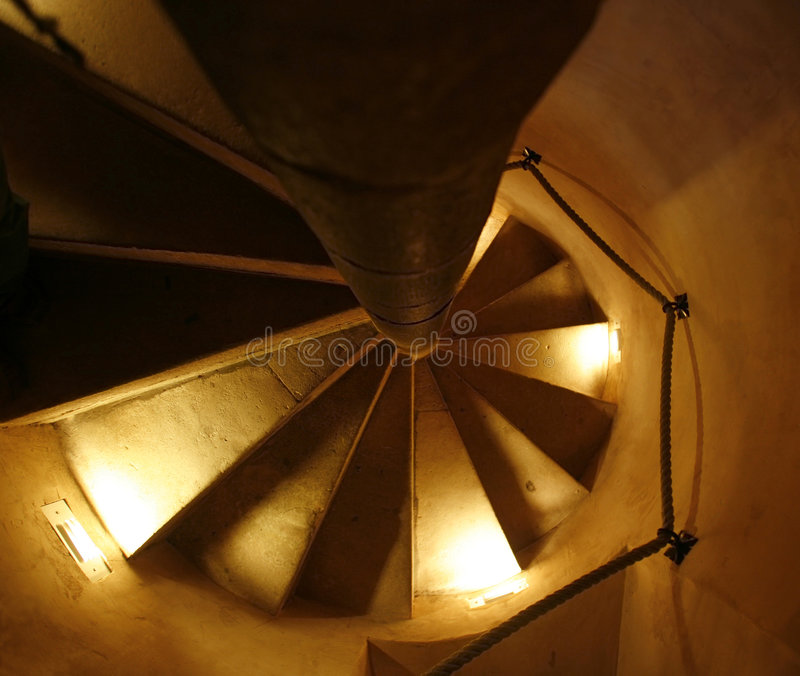 Download Spiral staircase stock photo. Image of home, down, winding - 8479500