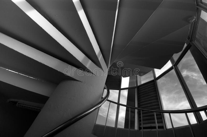 Download Spiral Staircase In Circular Column Stock Image - Image: 9756955