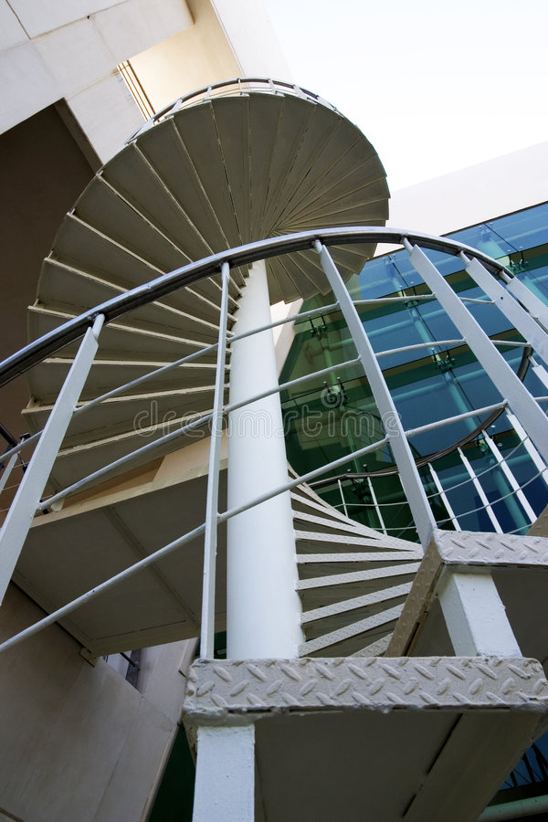 Spiral staircase close-up royalty free stock photography