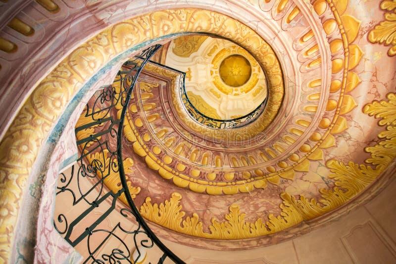 Spiral staircase, Melk Abbey, Austria stock photos