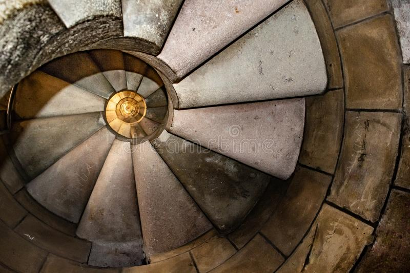 Spiral Staircase Sacred Family Church Interior View royalty free stock image