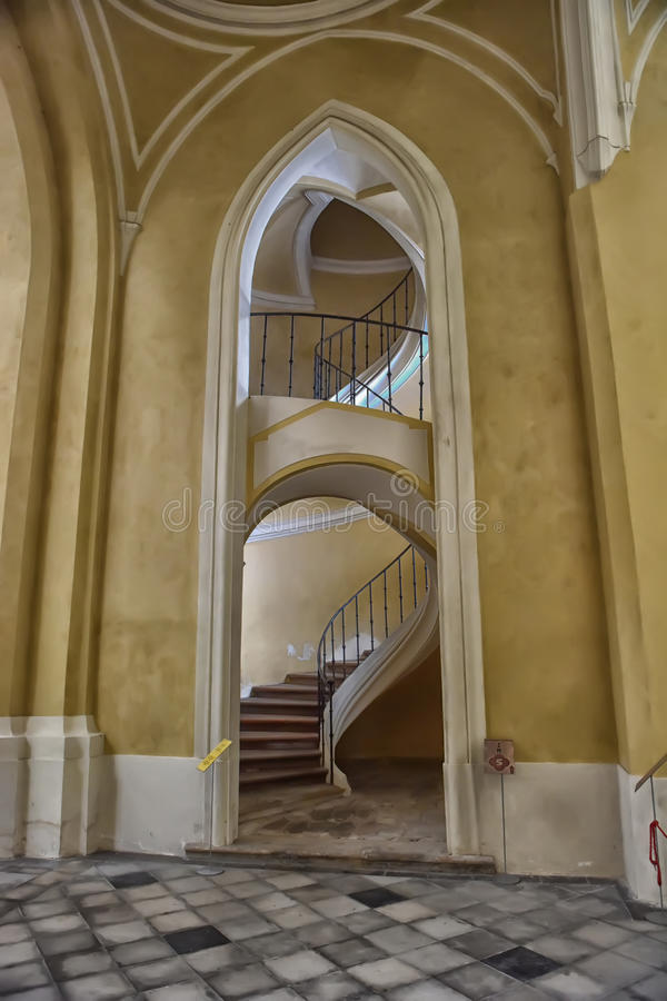 Free Spiral Staircase Side View Stock Image - 64943921