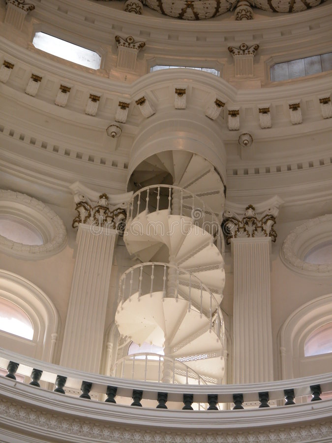 Spiral Staircase Texas Capitol royalty free stock images