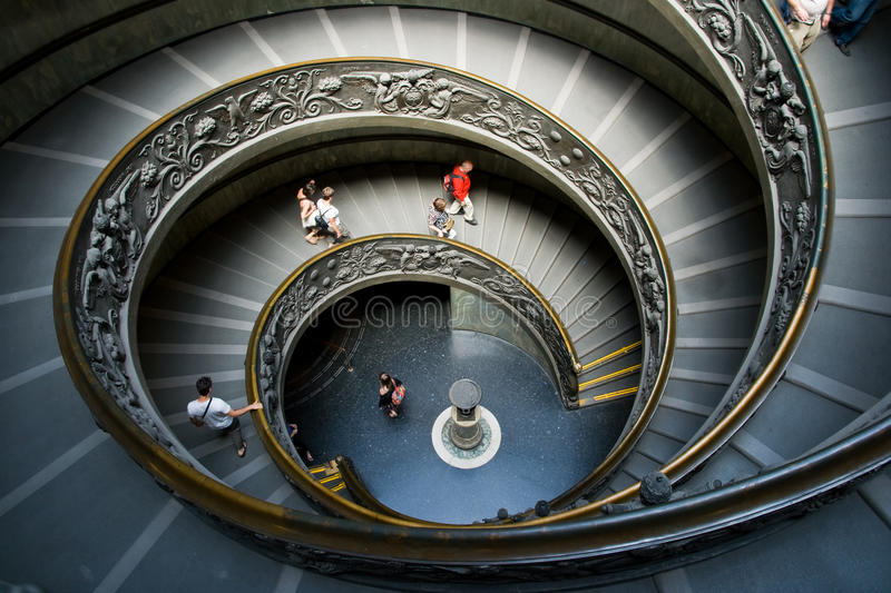 Spiral staircase in Vatican, Italy stock photo