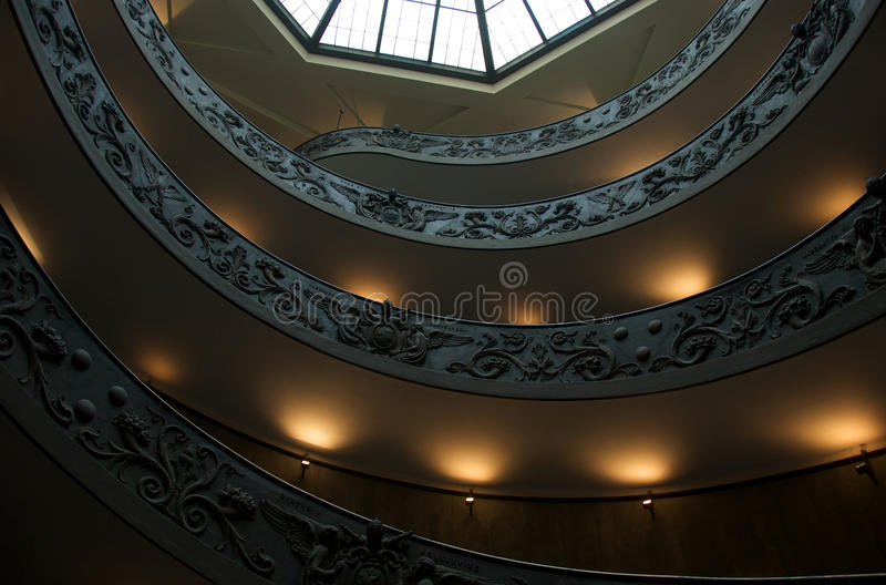 Spiral Staircase In Vatican Museum Editorial Image