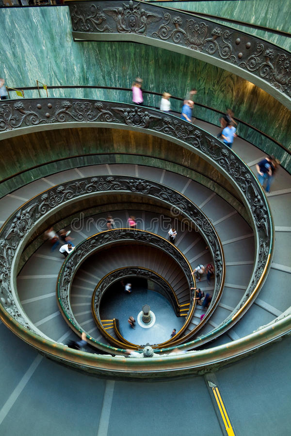 Spiral Staircase, Vatican, Rome. Spiral staircase in the Vatican Museum in Rome, Italy royalty free stock photo