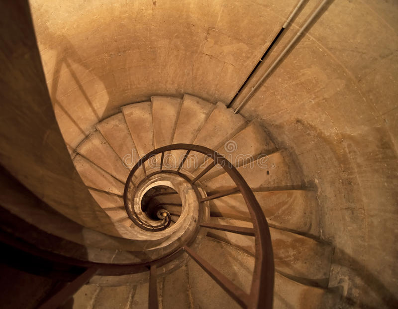Download Spiral stairs stock image. Image of stairs, curved, wideangle - 17827981