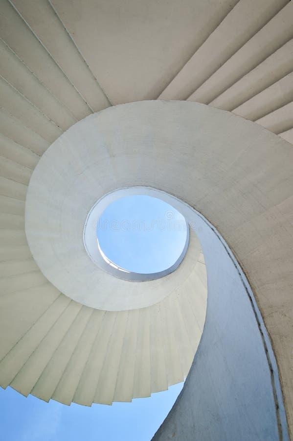 Spiral stairway. Modern spiral stairway in Warsaw, Poland stock photos