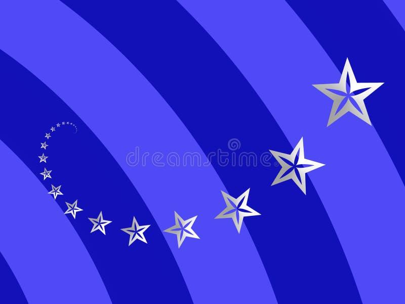 Spiral Of Stars Stock Image