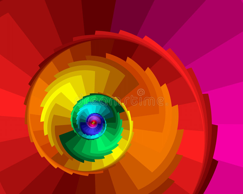 Spiral Steps royalty free stock image