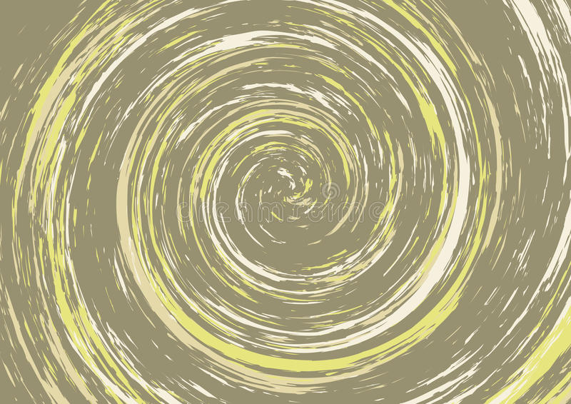 Spiral swirl in brown and yellow tones royalty free illustration