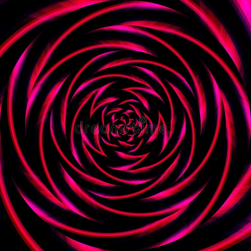 Spiral swirl pattern background abstract, optical geometric stock illustration