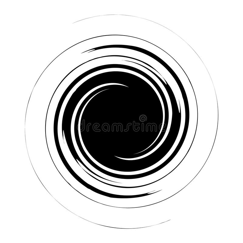 Spiral, swirl, twirl abstract design element. Rotating motif. Royalty free vector illustration stock illustration