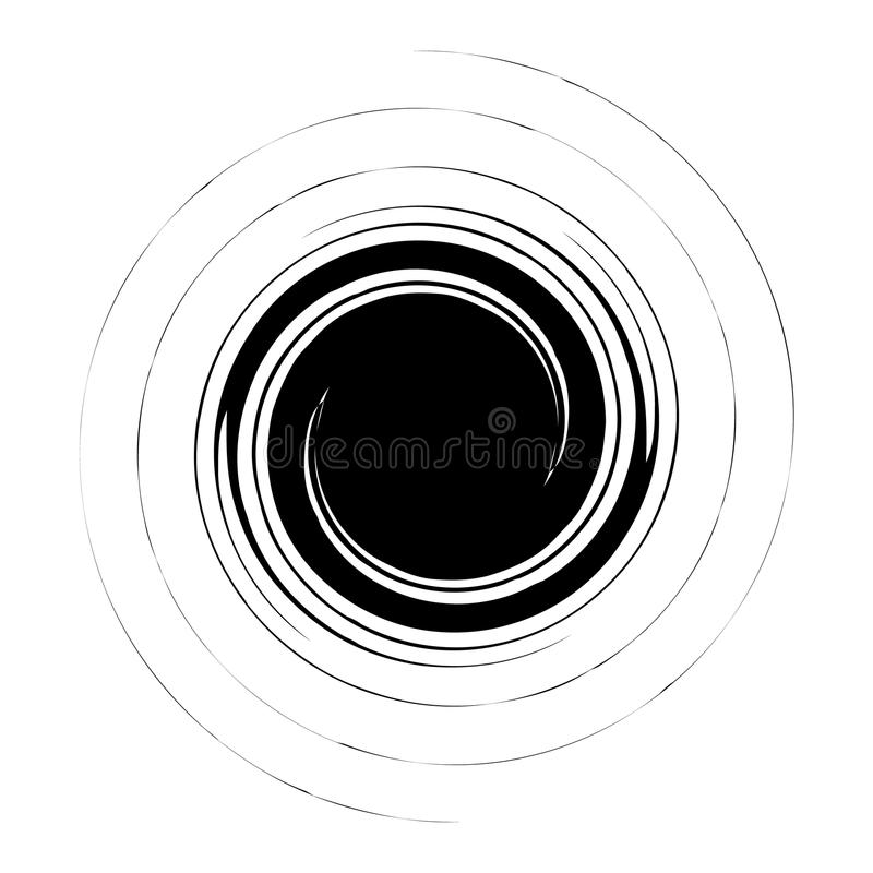 Spiral, swirl, twirl abstract design element. Rotating motif. Royalty free vector illustration vector illustration