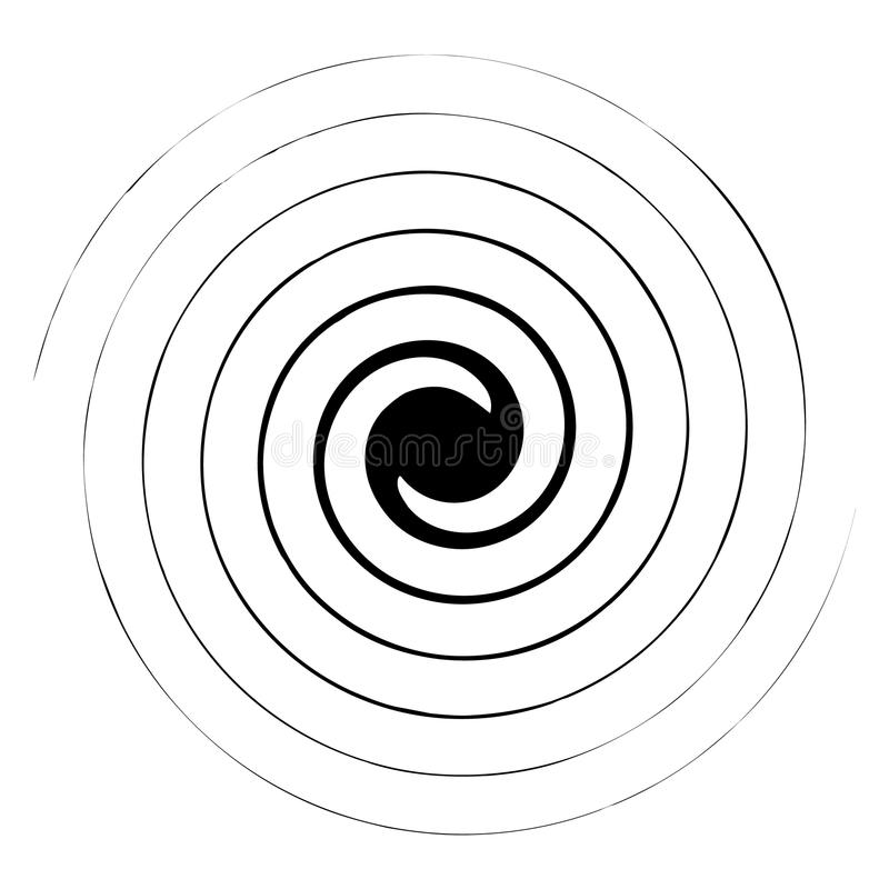 Spiral, swirl, twirl abstract design element. Rotating motif. Royalty free vector illustration royalty free illustration