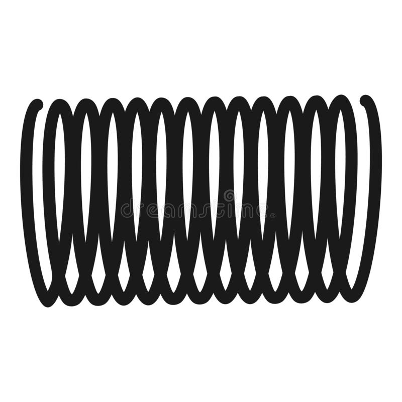 Spiral symbol för induktion, enkel stil royaltyfri illustrationer