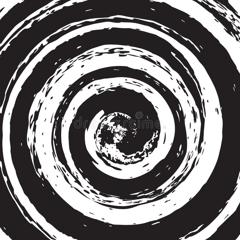 Spiral Texture. Grunge Spiral Overlay Texture for your design royalty free illustration