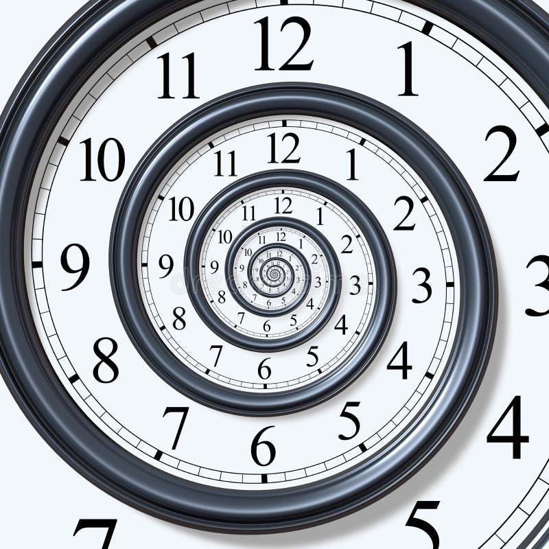spiral tid royaltyfri illustrationer