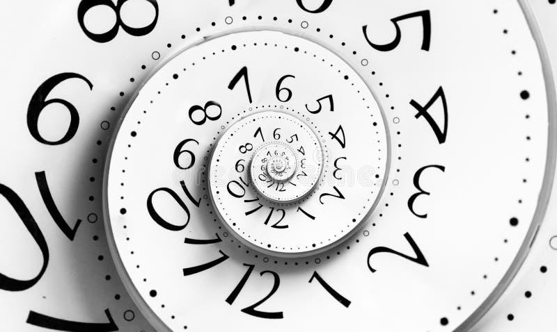 spiral tid för oändlighet stock illustrationer