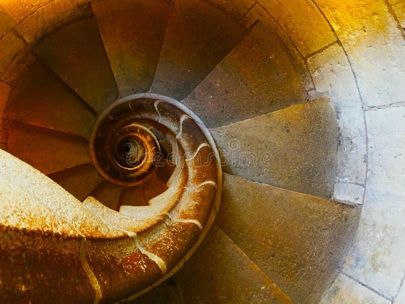 Spiral trappa Fibonacci royaltyfri foto