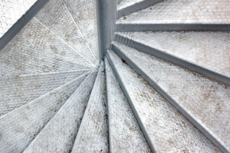 spiral trappuppgång för metall royaltyfri fotografi
