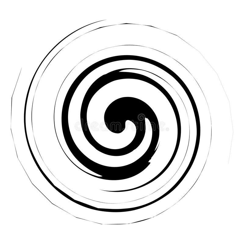 Spiral, twirl illustration. Abstract element with radial style a. Nd rotation effect - Royalty free vector illustration royalty free illustration