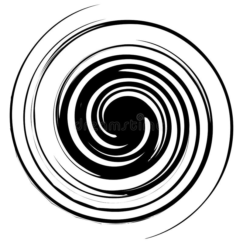 Spiral, twirl illustration. Abstract element with radial style. And rotation effect - Royalty free vector illustration vector illustration