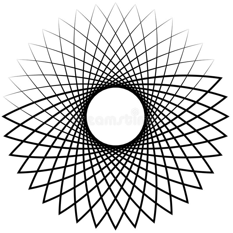 Spiral / Vortex element. Concentric, radiating lines abstract gr. Aphic - Royalty free vector illustration royalty free illustration