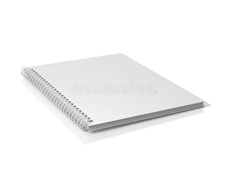 spiral white för anteckningsbok vektor illustrationer