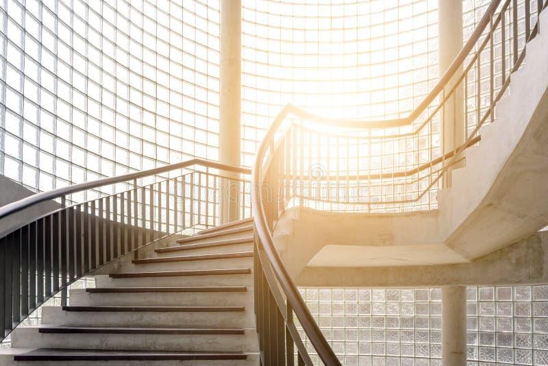 Spiral wooden staircase. Circular Staircase. Decoration interior stock photos